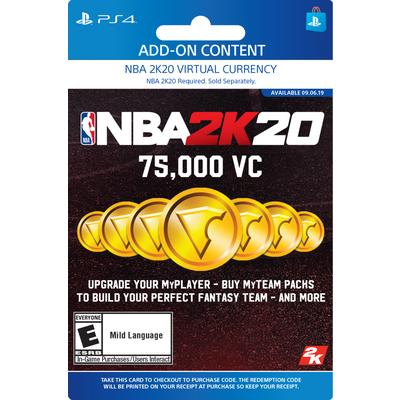 NBA 2K20 75000 Virtual Currency