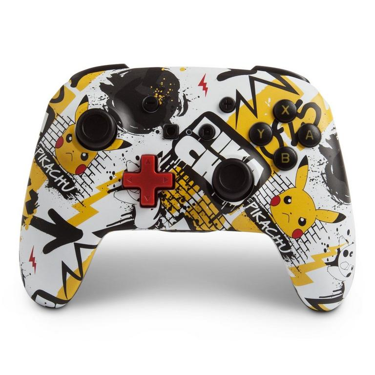 PowerA Nintendo Switch Pokemon Pikachu Graffiti Enhanced Wireless Controller Available At GameStop Now!