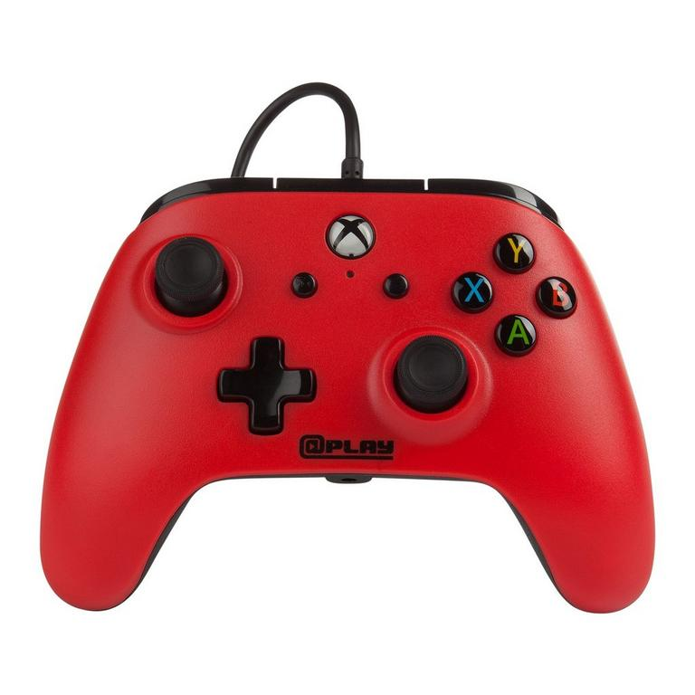 Red Wired Controller for Xbox One