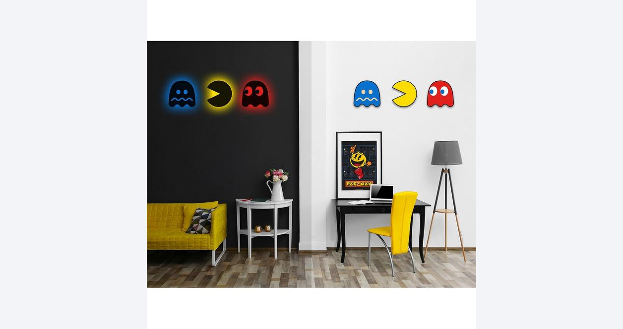 PAC-MAN Red Ghost Silhouette Light