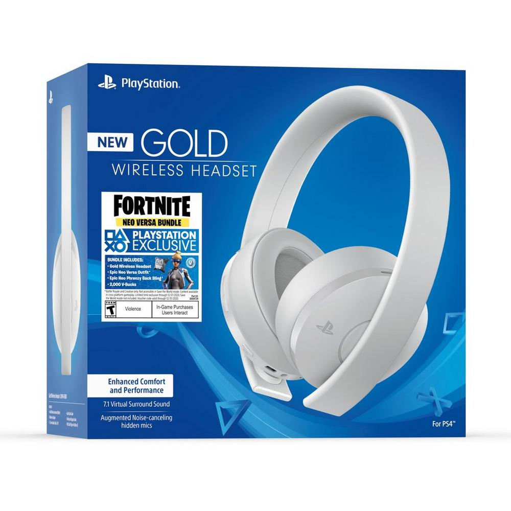 Fortnite Neo Versa Gold Wireless Headset White | PlayStation 4 | GameStop