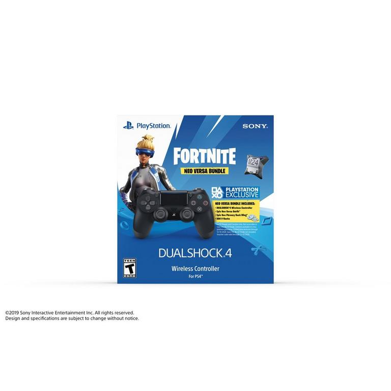 PS4 DUALSHOCK 4 Fortnite Neo Versa  Wireless Controller Bundle