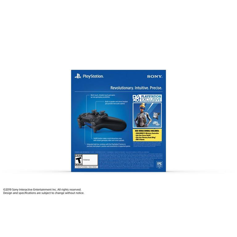 Sony DUALSHOCK 4 Fortnite Neo Versa Wireless Controller Bundle