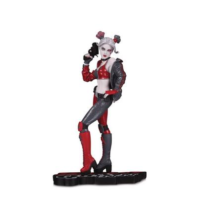 Batman Harley Quinn by Joshua Middleton Red White and Black Statue