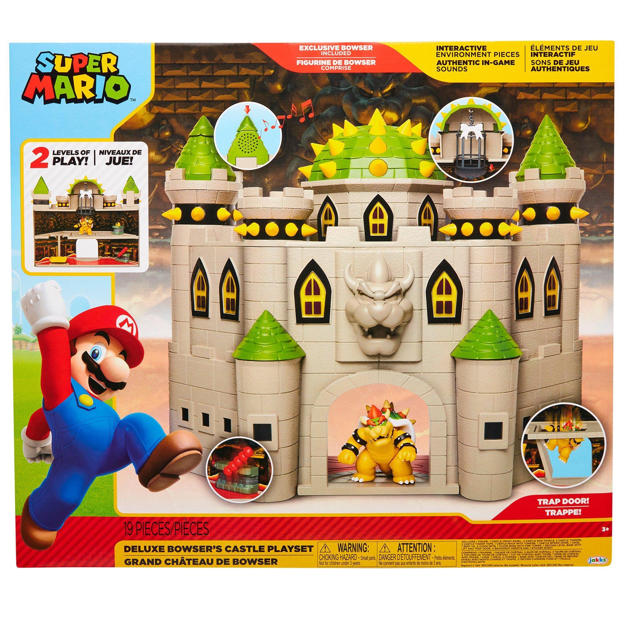 Super Mario Bros Deluxe Bowser S Castle Playset Gamestop