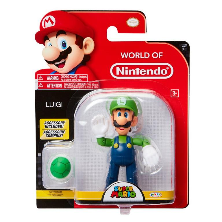 Super Mario Bros. Luigi with Green Shell World of Nintendo Action Figure