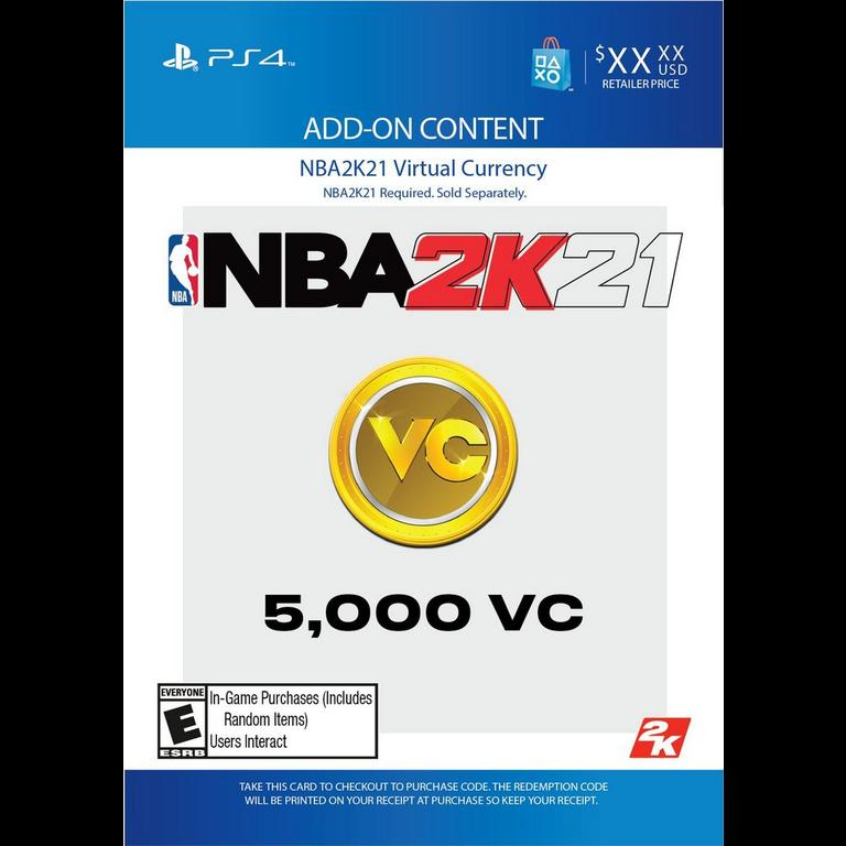 NBA 2K20 5,000 Virtual Currency