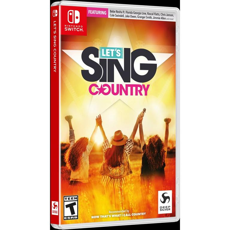 Let's Sing Country Only at GameStop