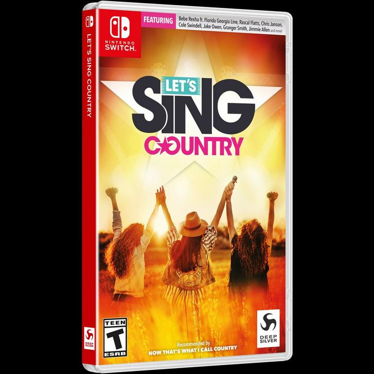 Let's Sing Country for Nintendo Switch or PS4 or XBox One
