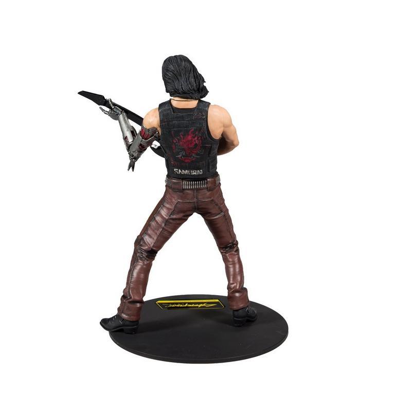 Cyberpunk 2077 Johnny Silverhand Chrome Rock Concert Statue 12 in