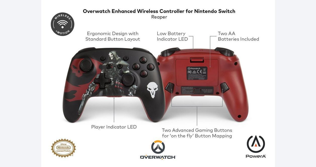 Nintendo Switch Overwatch Reaper Enhanced Wireless Controller