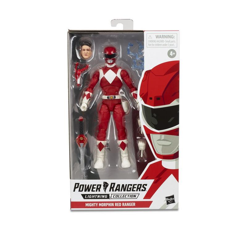Collectible Red Power Ranger head figure.