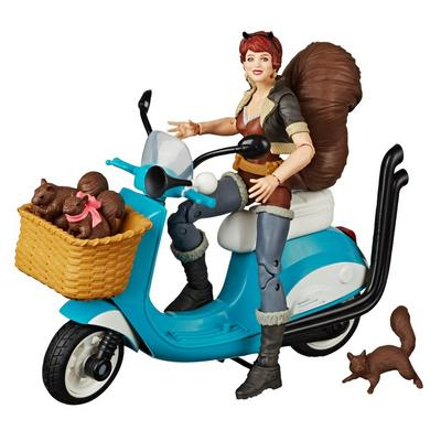 Marvel Legends Series Unbeatable Squirrel Girl with Vehicle Action Figure