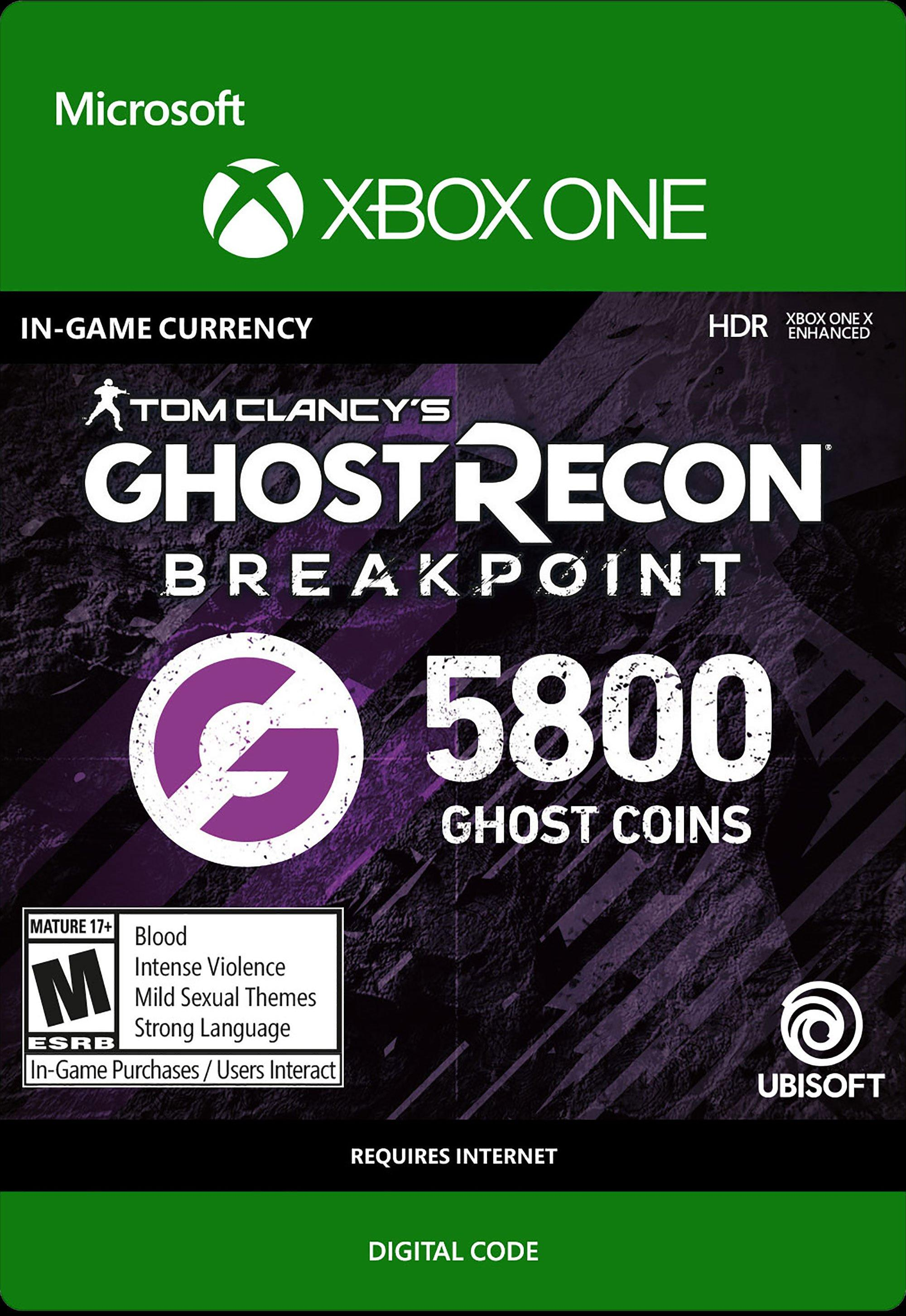 Tom Clancy S Ghost Recon Breakpoint 5 800 Ghost Coins Xbox One Gamestop