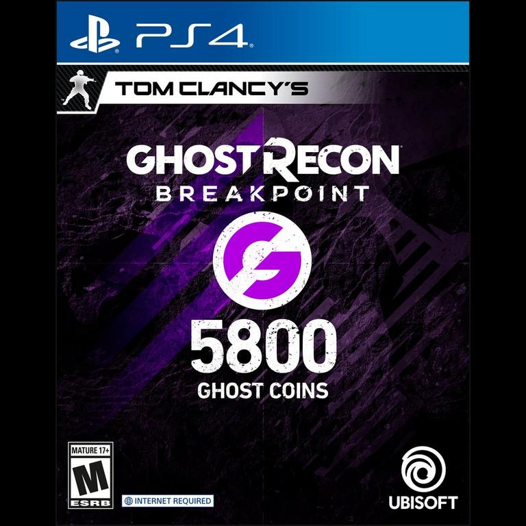 Tom Clancy S Ghost Recon Breakpoint 5 800 Ghost Coins Playstation 4 Gamestop