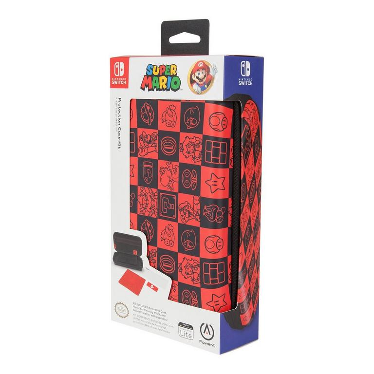 Super Mario Bros. Checkerboard Protection Case Kit for Nintendo Switch Lite