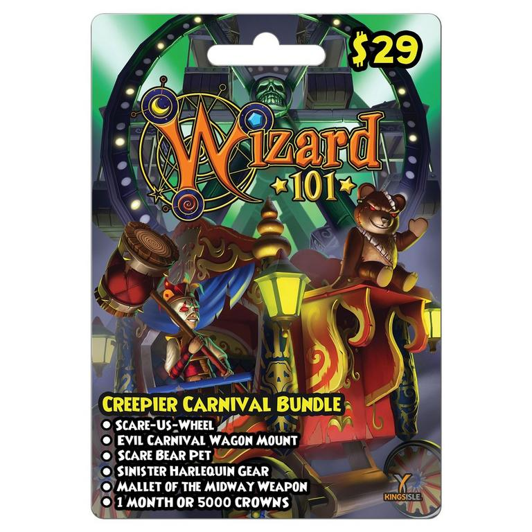 Wizard 101 Creepier Carnival Bundle Digital Card