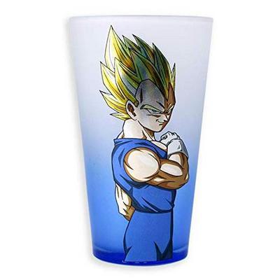 Dragon Ball Z Super Saiyan Vegeta Frosted Pint Glass