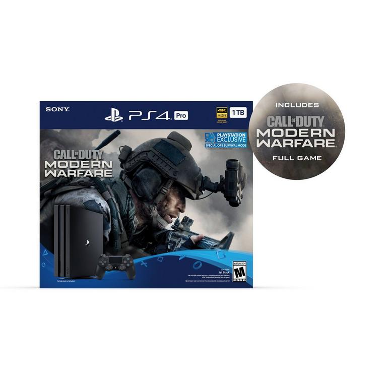 PlayStation 4 Pro Call of Duty: Modern Warfare Bundle 1TB