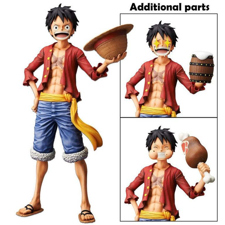 One Piece Monkey D Luffy Grandista Nero Statue Gamestop