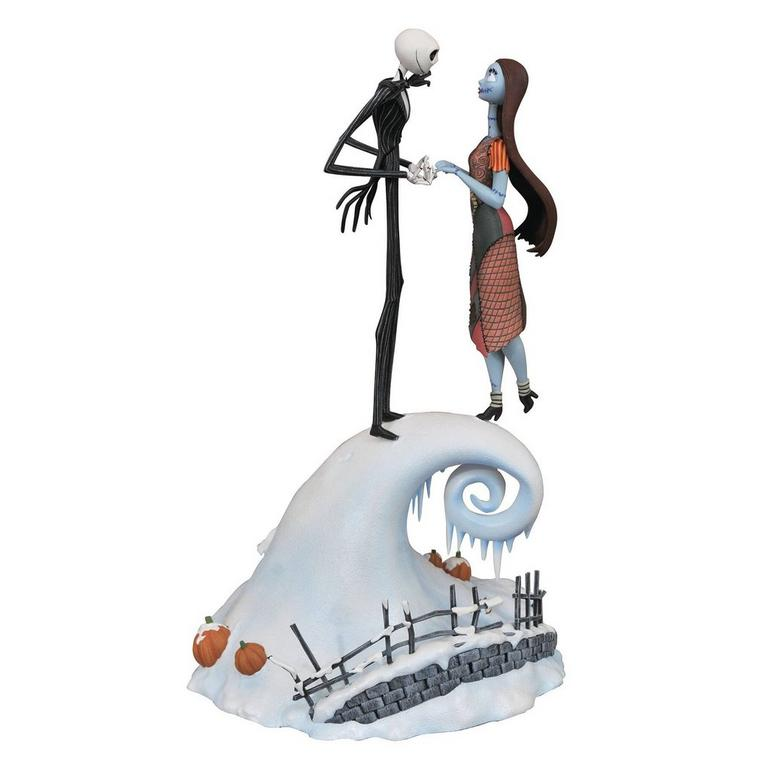 The Nightmare Before Christmas Jack and Sally Milestones Statue