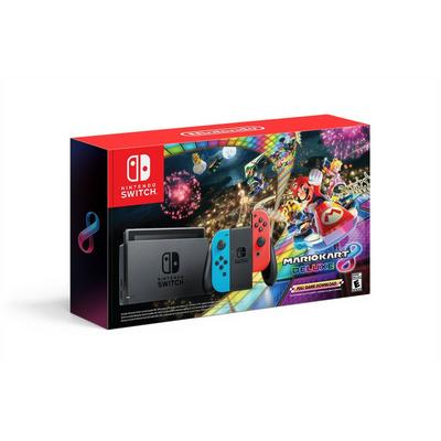 Nintendo Switch Mario Kart 8 Deluxe Bundle with Neon Blue and Neon Red Joy-Con