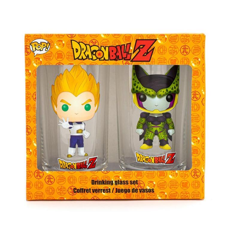 Dragon Ball Z Super Saiyan Vegeta and Cell Drinking Glass 2 Pack