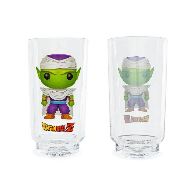 Dragon Ball Z Super Saiyan Goku and Piccolo Drinking Glass 2 Pack