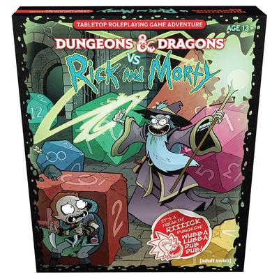 Dungeons and Dragons vs Rick and Morty Tabletop Roleplaying Game Adventure
