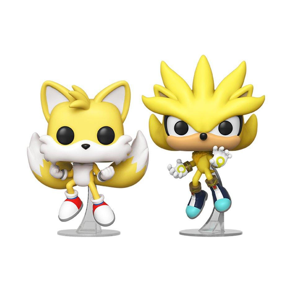 Pop Games Sonic Super Tails And Super Silver 2 Pack Summer Convention 2020 Only At Gamestop Gamestop