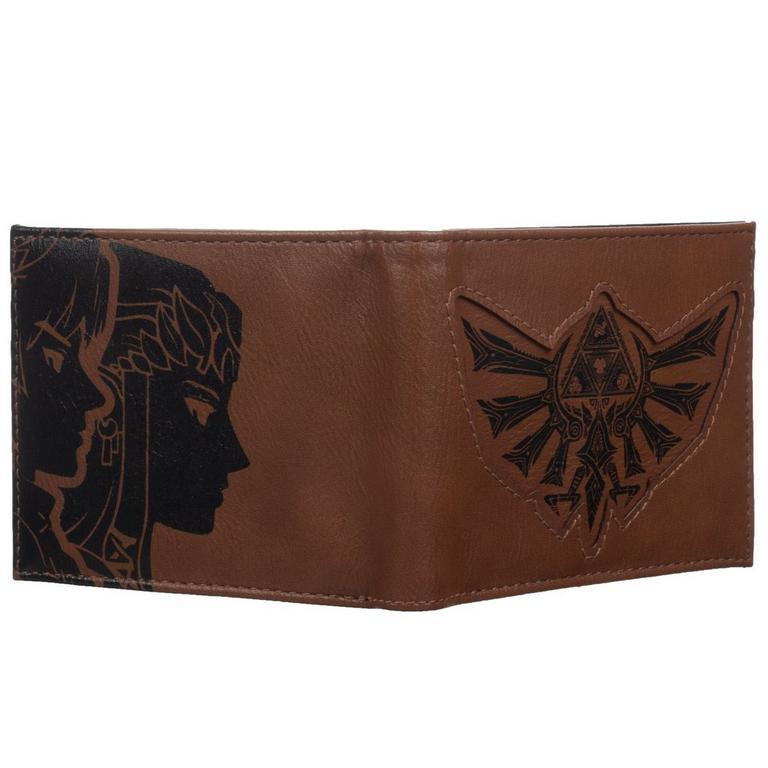 The Legend of Zelda Link and Zelda Bifold Wallet