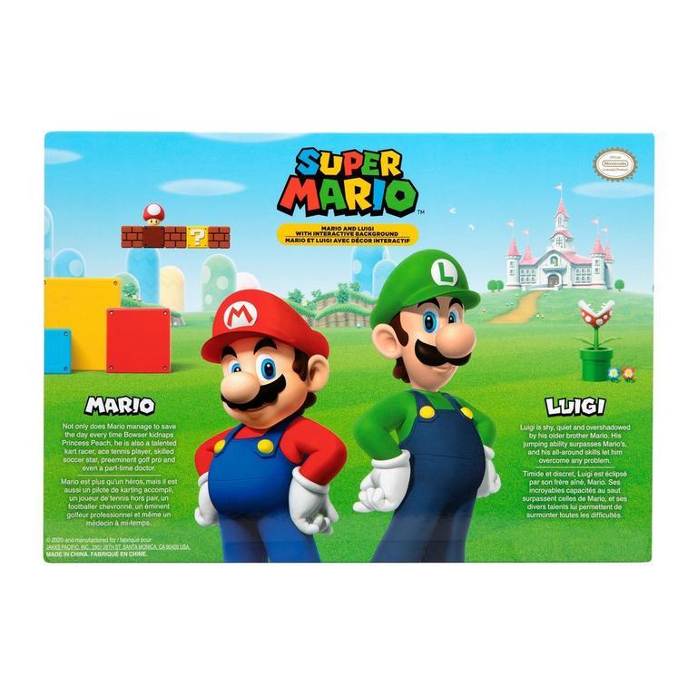 Super Mario Bros Mario And Luigi Figures With Interactive