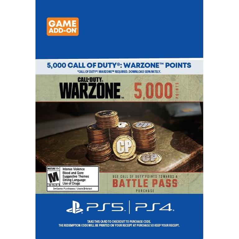 Call of Duty: Warzone 5,000 Points