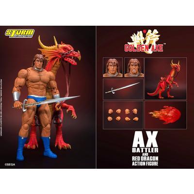 Golden Axe Ax Battler and Red Dragon Action Figure