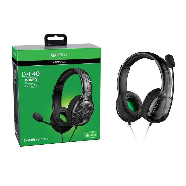 LVL40 Camo Wired Stereo Gaming Headset for Xbox One
