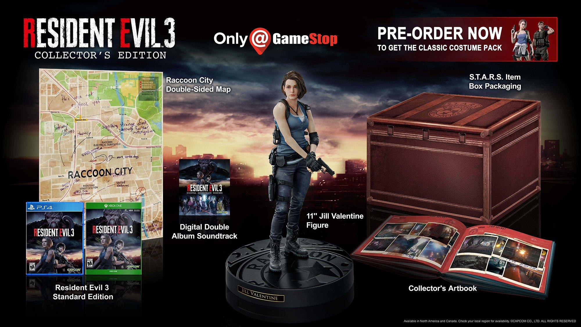 Resident Evil 3 Remake Collector S Edition Only At Gamestop Playstation 4 Gamestop