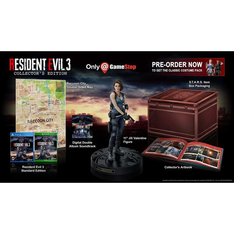 Capcom Resident Evil 3 Remake Collector's Edition Only at GameStop PS4 Pre-Order At GameStop Now!