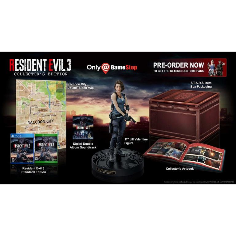 Capcom Resident Evil 3 Remake Collector's Edition Only at GameStop Xbox One Pre-Order At GameStop Now!