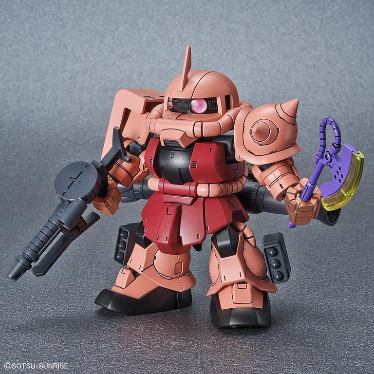 Mobile Suit Gundam MS-06S ZAKU II Super Deformed Gundam Cross Silhouette Model Kit