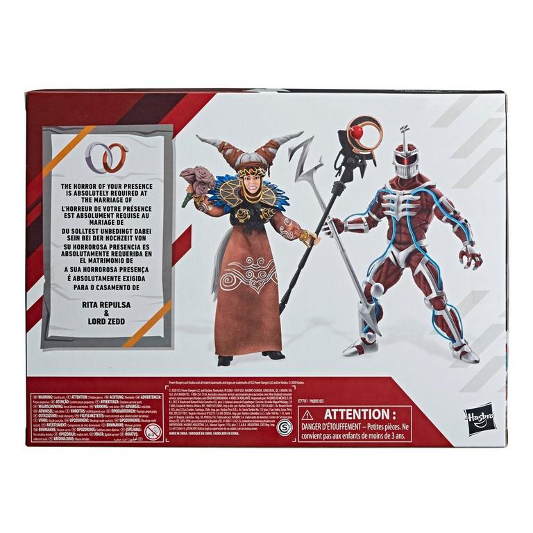 Mighty Morphin Power Rangers Lord Zedd and Rita Repulsa Lightning Collection Action Figure 2 Pack