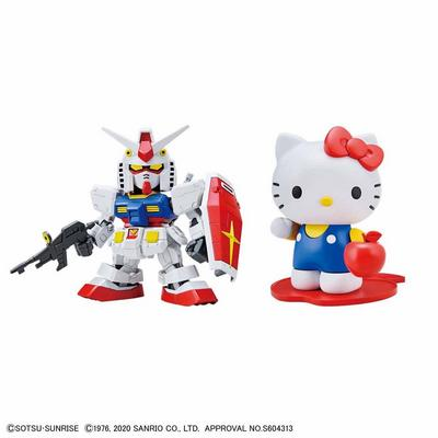 Hello Kitty and RX-78-2 Gundam SD-EX Standard Model Kit