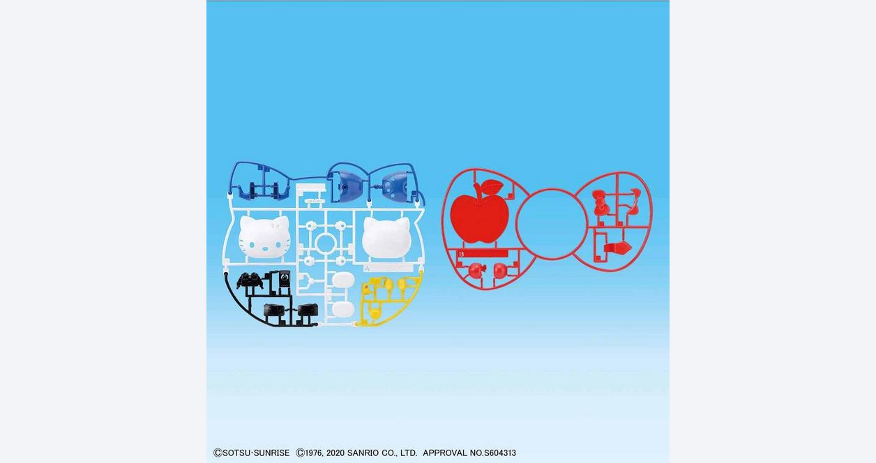 Hello Kitty and RX-78-2 Gundam SD-EX Standard Model Kit