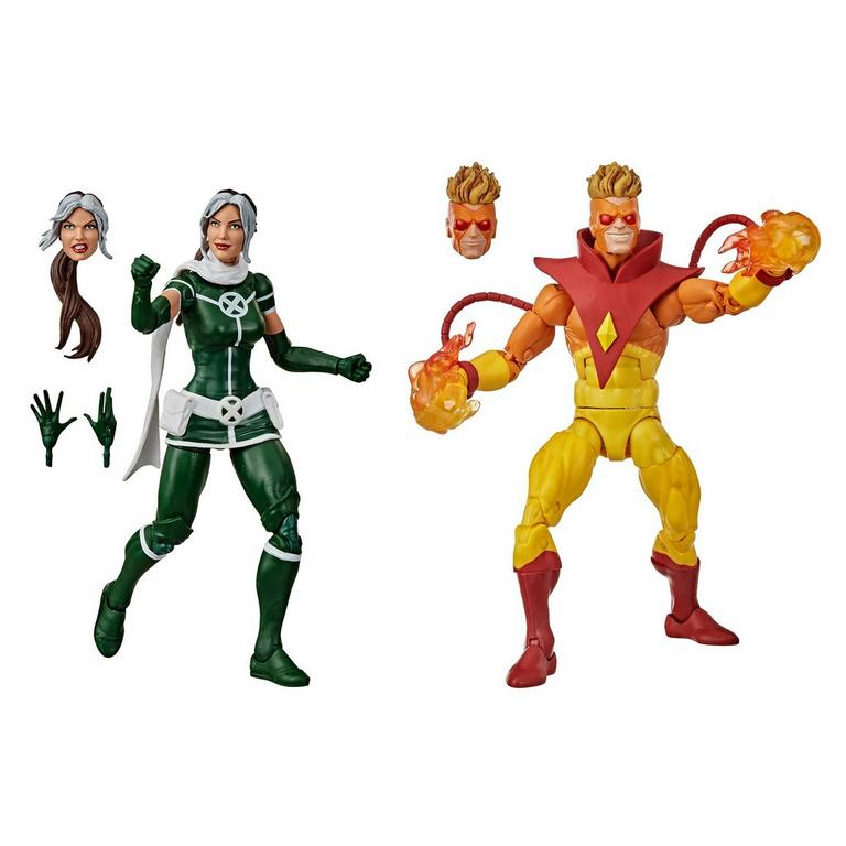 Marvel Legends Series X-Men Marvel's Rogue and Pyro Action Figure 2 Pack