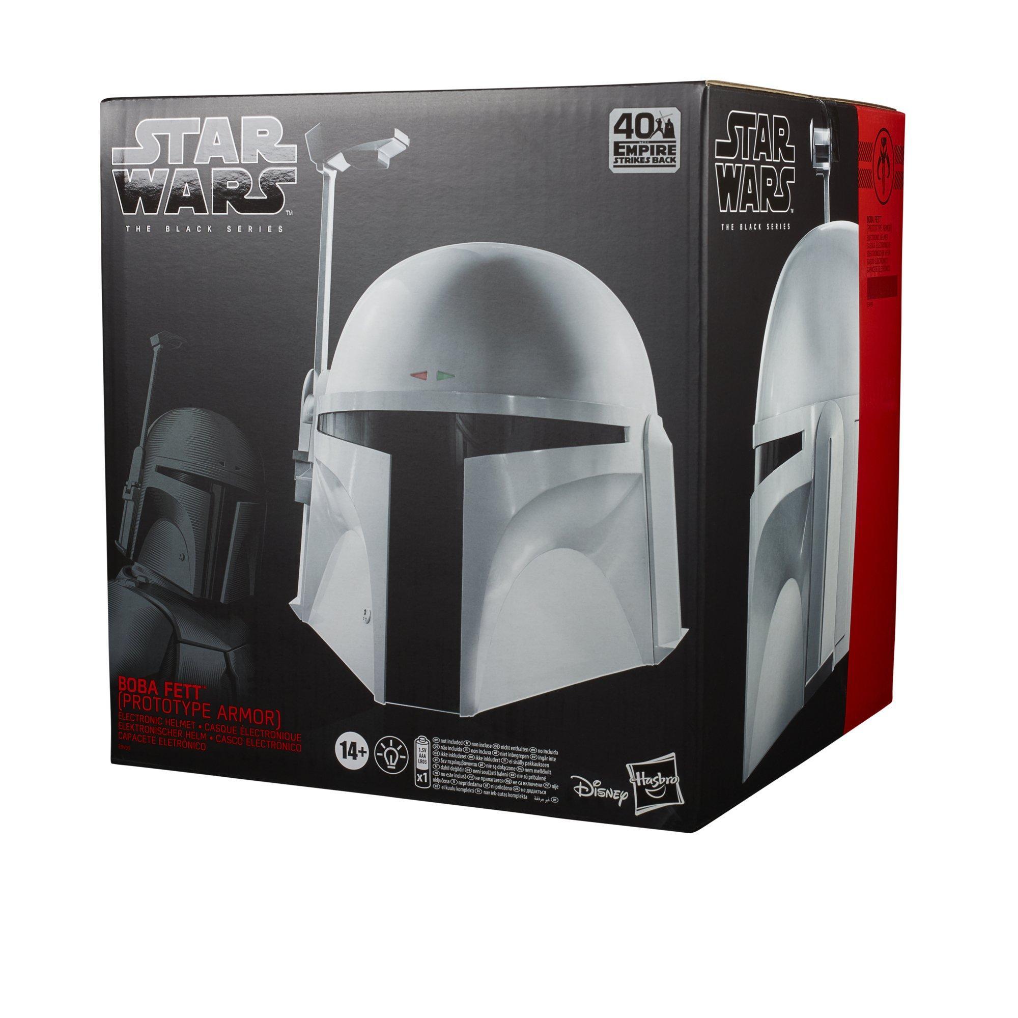 Star Wars The Empire Strikes Back 40th Anniversary Boba Fett Prototype Armor The Black Series Helmet Gamestop