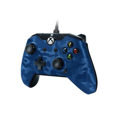 Xbox One Blue Camo Wired Controller