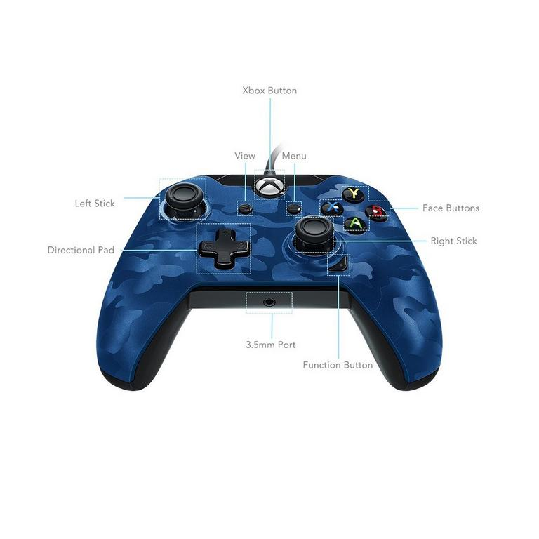 Blue Camo Wired Controller for Xbox One
