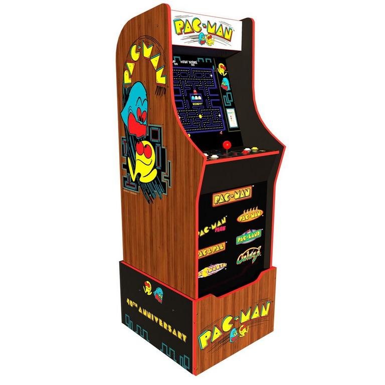 PAC-MAN 40th Anniversary Arcade Cabinet with Riser and Stool