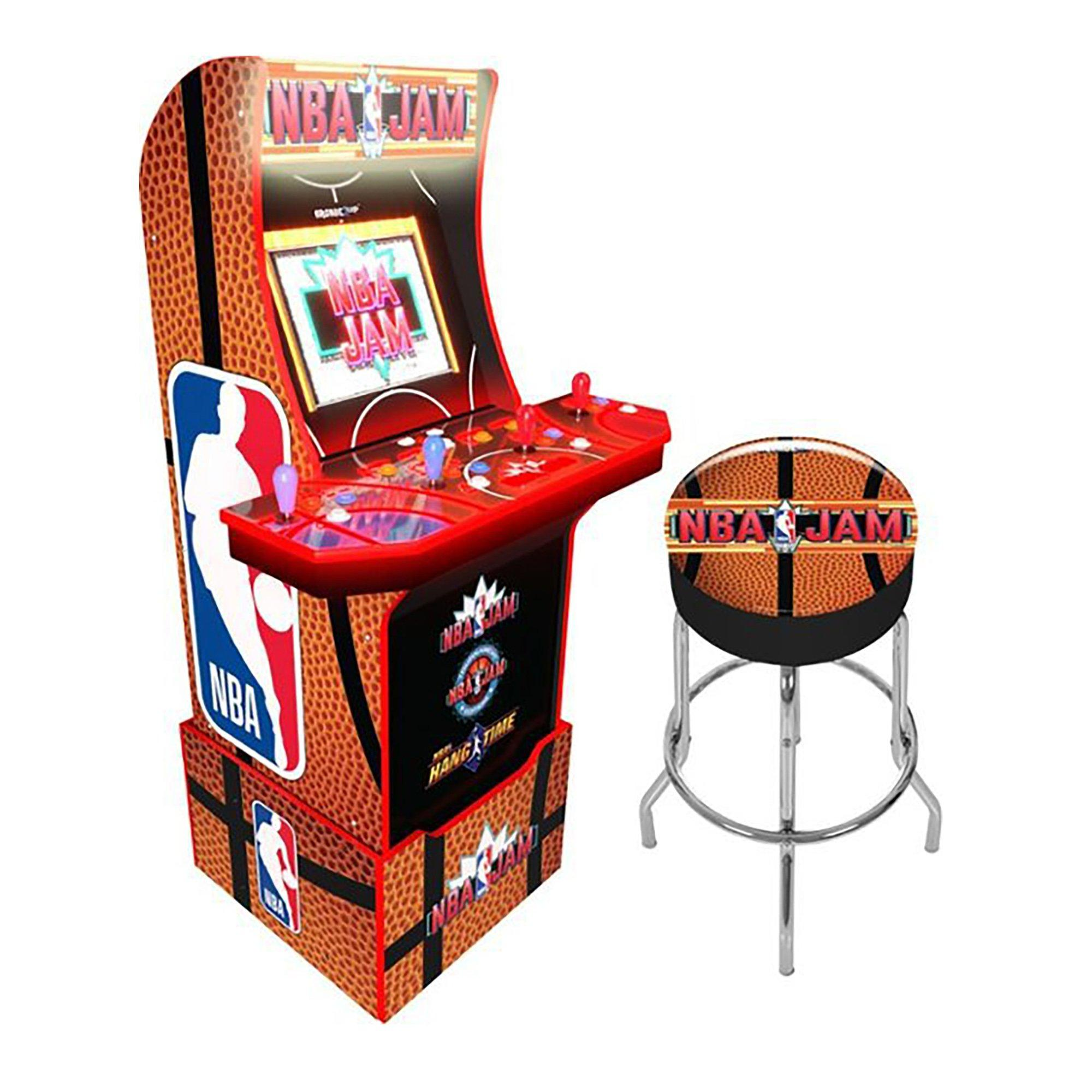 NBA Jam Wi-Fi Enabled Arcade Cabinet with Riser and Stool