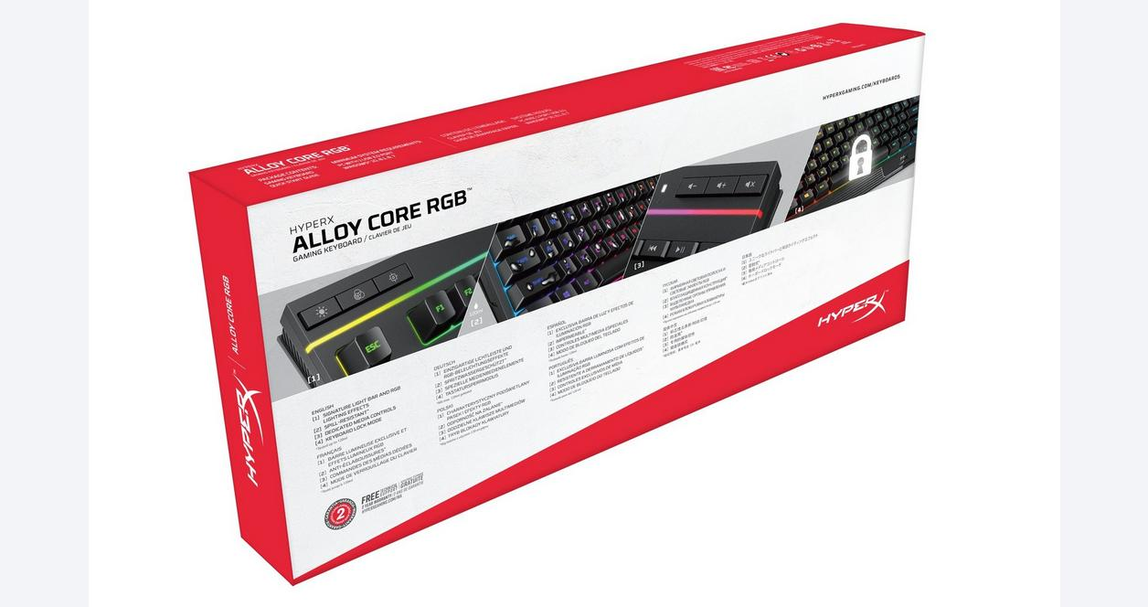 Alloy Core RGB Wired Membrane Gaming Keyboard
