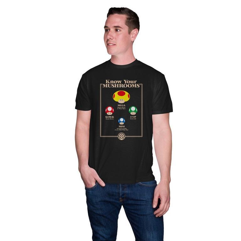 Super Mario Bros. Know Your Mushrooms T-Shirt